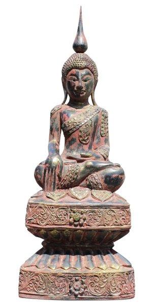 Holz Buddha Figur Siddharta Gautama