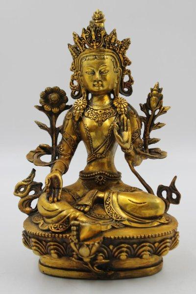 Grüne Tara Buddha aus Bronze - China
