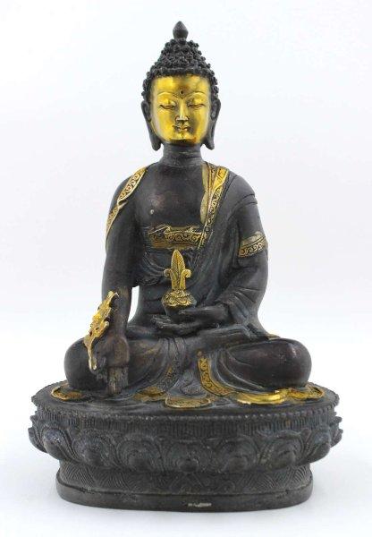 Medizin Buddha (32cm) Tibetische Bronze Figur