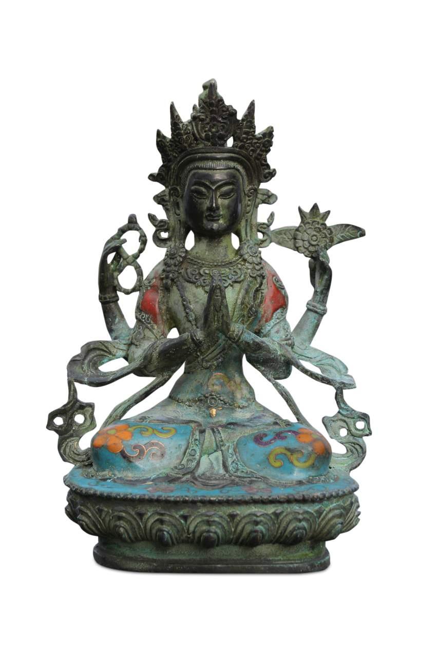 buddha cloisonne figuren statuen online kaufen asien. Black Bedroom Furniture Sets. Home Design Ideas