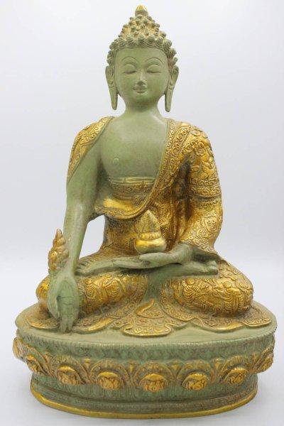 Medizin Buddha Figur, aus Bronze