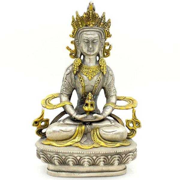 Amitayus Buddha Figur (21cm) Bronze Statue China