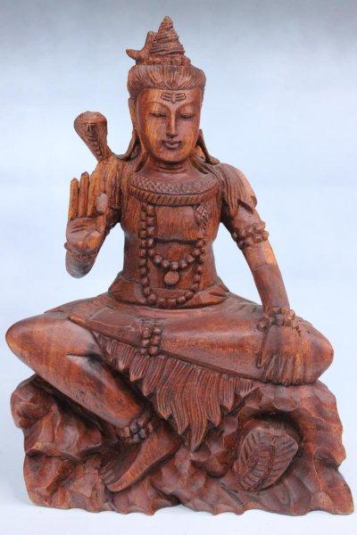 Hinduistischer Shiva aus Holz