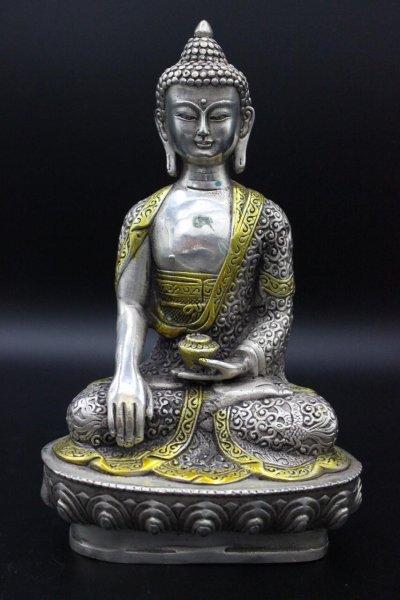 Siddharta Shakyamuni Buddha Figur, Bronze