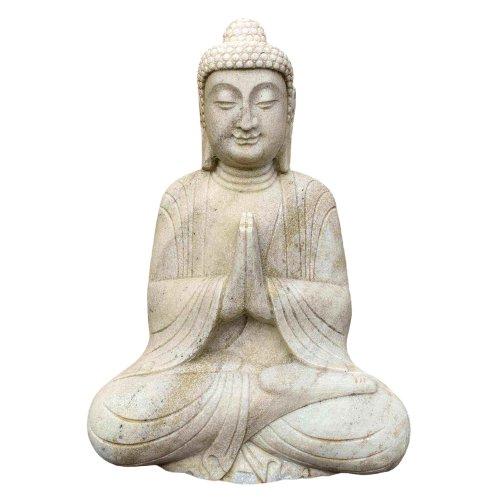 Garten Marmor Buddha (60cm) Namaste Statue