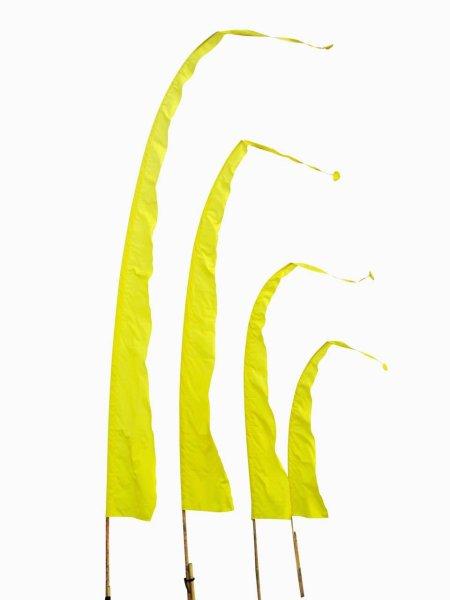 Balifahne in Gelb mit herzförmiger Spitze, Umbulfahne