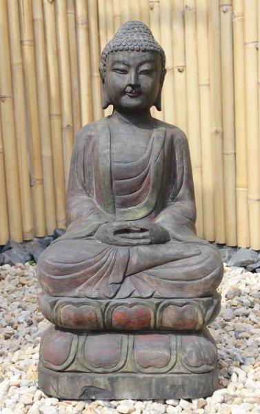 Garten Buddha Statue 80 cm groß - Unikat