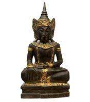 Siddharta Buddha Holz Figur Mandalay (60cm)