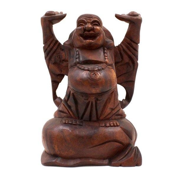Hotai Happy Buddha Fiugr Holz (22cm) Glücksbuddha China
