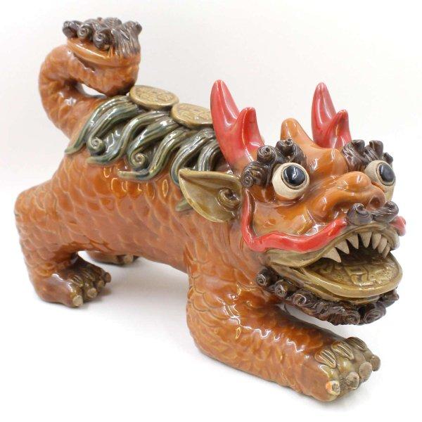 China Reichtums Tempellöwen (32cm) Keramik - Porzellan Figur