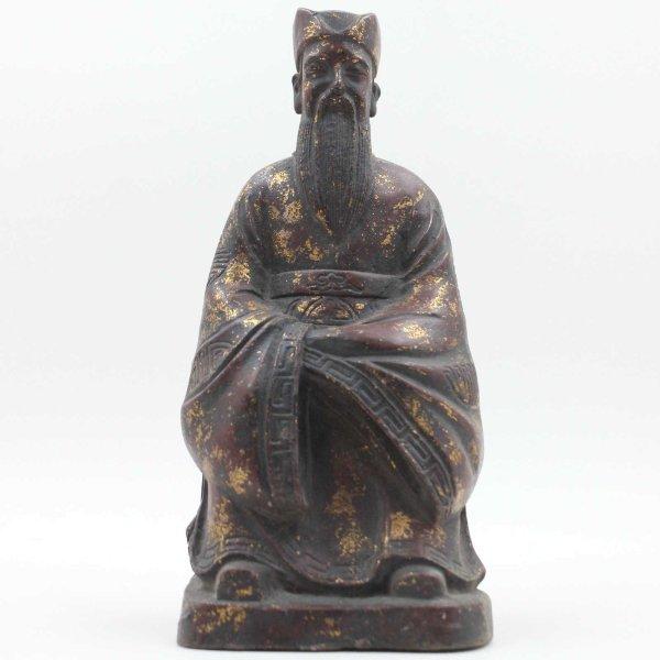 Konfuzius (23,5cm) Bronze Figur aus China