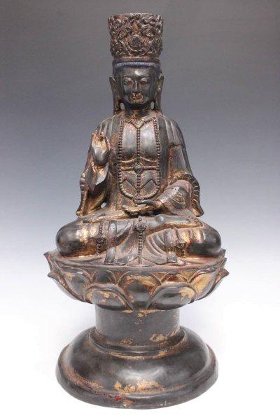 Ältere Guan Yin Buddha Figur aus Bronze