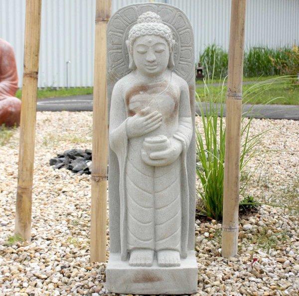 Stehender Limestone Buddha (100cm) Indonesien
