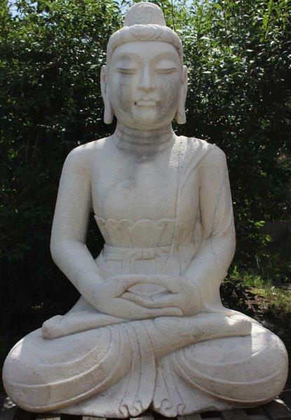 Tempel Buddha Statue175cm groß - restauriert - Asien Garten - Unikat