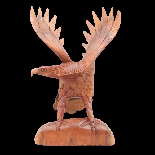 Handgeschnitzte Adler Skulptur (32cm) aus Holz