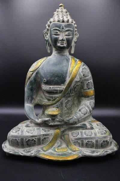 Amitabha Buddha Figur aus Bronze