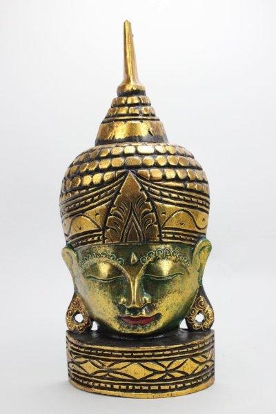 Buddha Maske aus Holz, Thailand