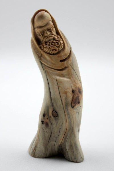 Chinesischer Lohan Arhat aus Zedern Holz - handmade