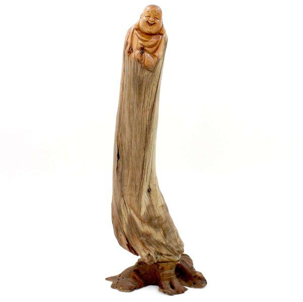 Hotai Figur Zedernholz (34cm) Happy Buddha