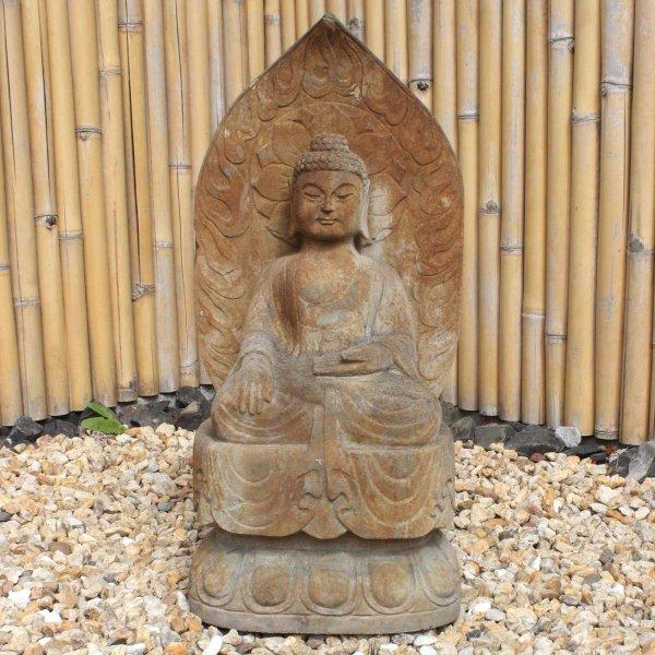 Sitzender Siddharta Buddha (82cm) Naturstein Statue