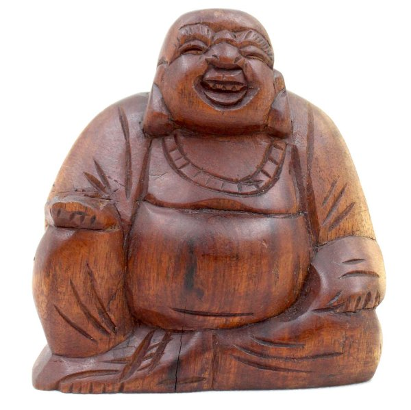 Kleiner Hotai Buddha (11,5cm) Holz Figur