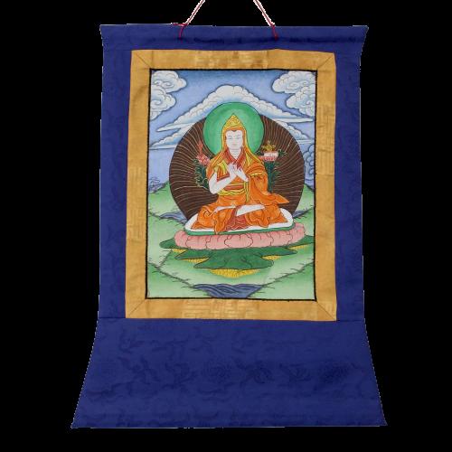 Tsongkhapa Thangka (48cm) Buddha Wandbild Tibet