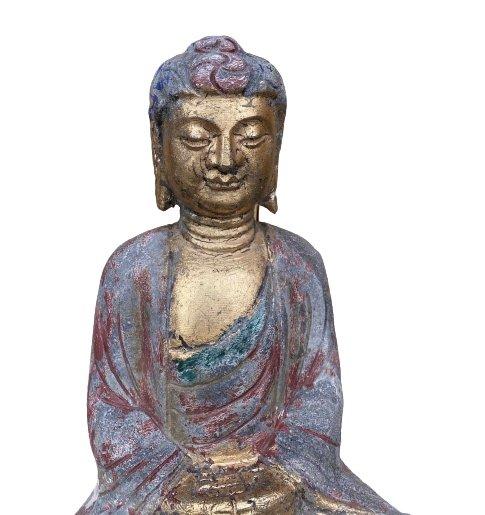 Garten Buddha (41cm) Amitabha Figur - Naturstein