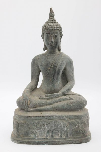 Siddharta Buddha Figur aus Bronze, Thailand
