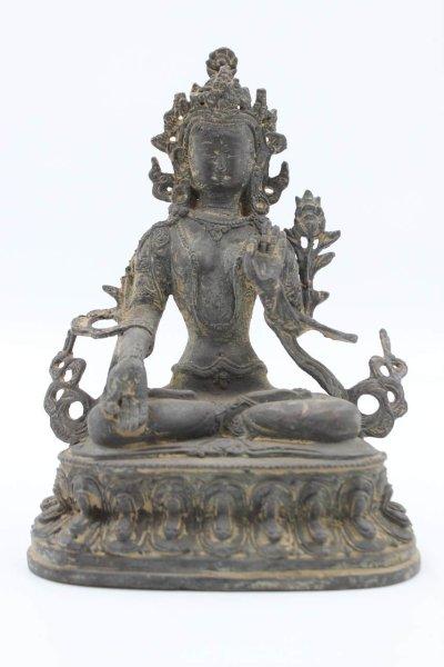 Buddha Weiße Tara - Chinesische Bronze Figur