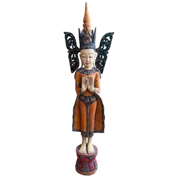 Shan Buddha Buddha Figur 120cm groß - Holz Skulptur
