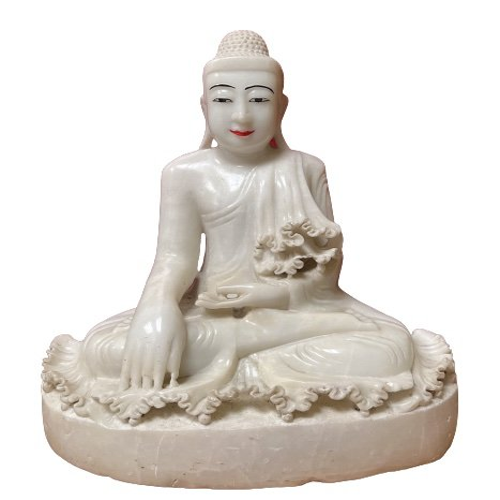 Marmor Buddha Figur (60cm) Burma Statue aus Nachlass