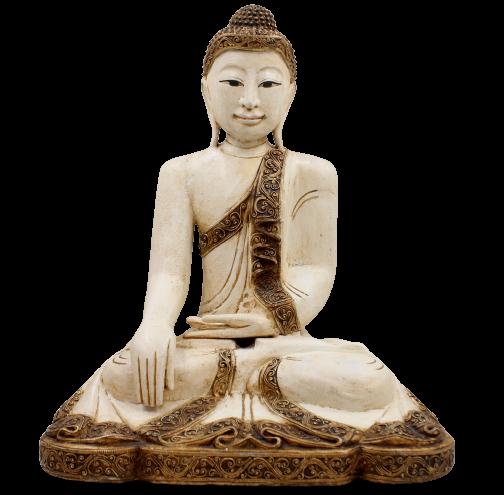 Siddharta Gautama Buddha Thailand (51cm) Holz Figur