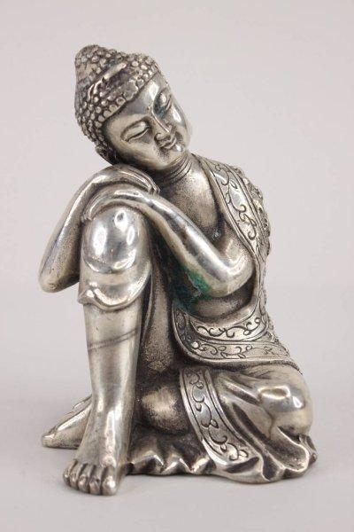Ruhende Buddha Figur aus Bronze