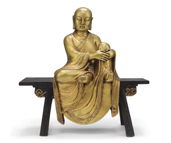 24 Karat vergoldeter Mönch - UNIKAT