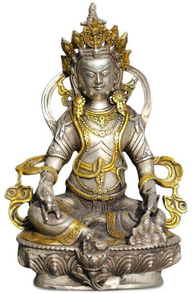 Kubera / Jambhala Figur aus Bronze - Reichtumsgott