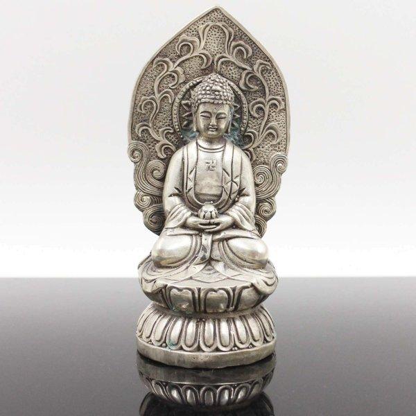 Amitabha Buddha (16,5cm) Sitzende Bronze Figur