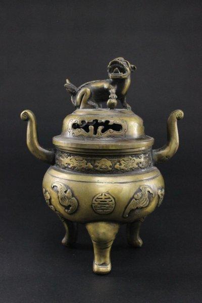 Fledermaus Räuchergefäß aus Bronze, China