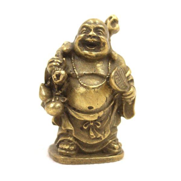 Hotai Buddha Figur Bronze (4,8cm) Kleiner Glücksbuddha