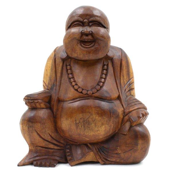 Kleiner Hotai Buddha (21cm) Holz Figur