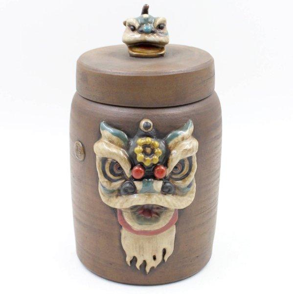Chinesische Reichtum Vase Tian Lu Löwe Keramik