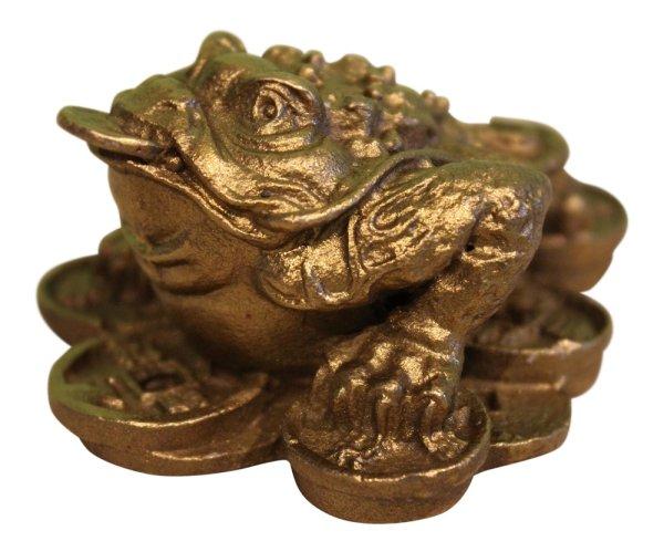 eldkröte Reichtumskröte, Glücksbringer aus Bronze