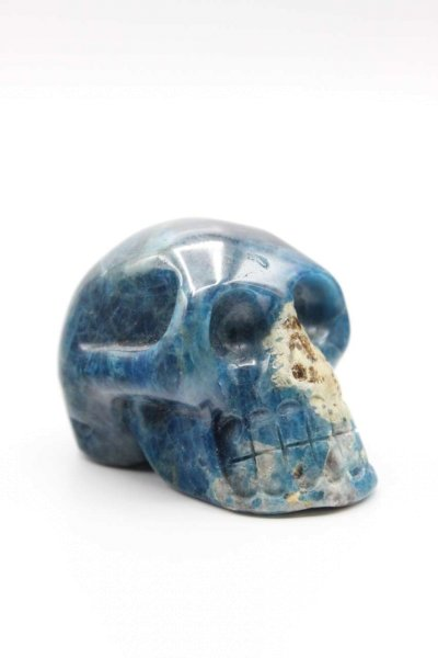 Totenkopf Kristall Schädel aus Apatit