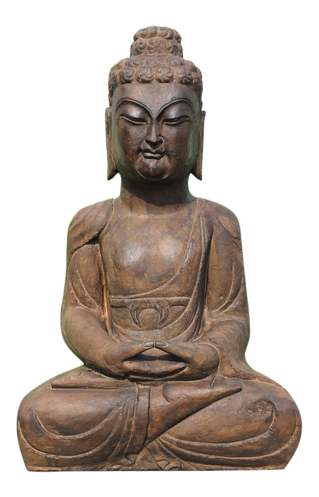 garten buddha figur aus naturstein f r den asiengarten liebhaber. Black Bedroom Furniture Sets. Home Design Ideas