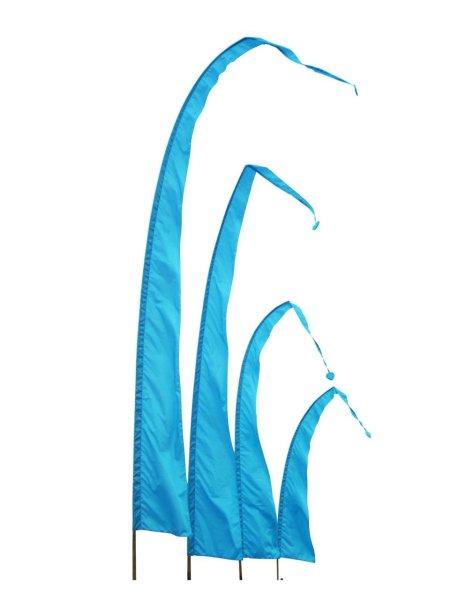 Balifahne in Türkis mit herzförmiger Spitze, Umbulfahne