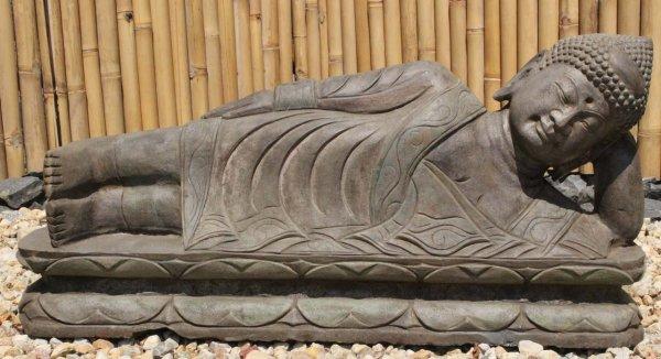 Nirvana Garten Buddha Statue aus Naturstein