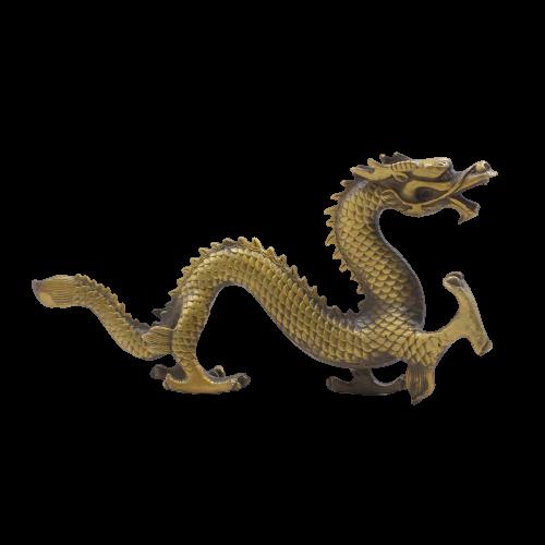 China Drachen (32cm) Figur aus Bronze