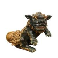 Asiatischer Wächterlöwe aus Porzellan - Keramik, Vietnam