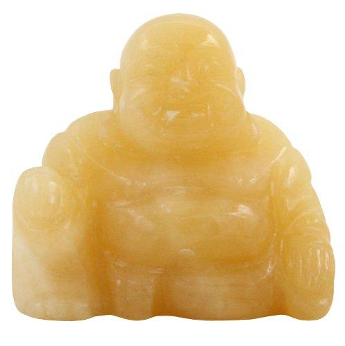 Calcit Stein Buddha Figur (5cm) Kleiner Glücksbuddha