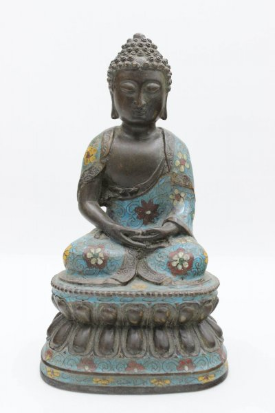Cloisonne Amitabha Buddha Figur - China - 24,5cm
