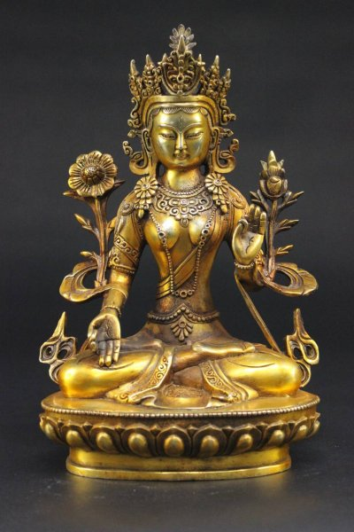 Weiße Tara Buddha Figur Bronze